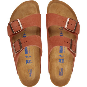 Birkenstock Arizona Soft Footbed Sandals Suede Leather Narrow Women, earth red